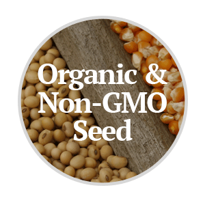 Organic and Non-GMO Corn and Soybean Seed